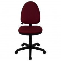 Flash Furniture WL-A654MG-BY-GG Mid-Back Burgundy Fabric Multi-Functional Task Chair with Adjustable Lumbar Support addl-1