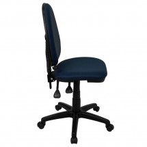 Flash Furniture WL-A654MG-NVY-GG Mid-Back Navy Blue Fabric Multi-Functional Task Chair with Adjustable Lumbar Support addl-4