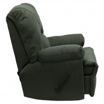Flash Furniture WM-8500-266-GG Contemporary Montana Loden Microfiber Suede Rocker Recliner addl-1