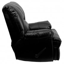 Flash Furniture WM-8500-371-GG Contemporary Apache Black Leather Rocker Recliner addl-1