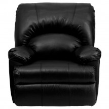 Flash Furniture WM-8500-371-GG Contemporary Apache Black Leather Rocker Recliner addl-3