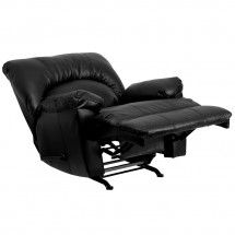 Flash Furniture WM-8500-371-GG Contemporary Apache Black Leather Rocker Recliner addl-4