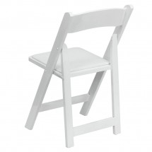 Flash Furniture XF-2901-WH-WOOD-GG HERCULES Series White Wood Folding Chair with Vinyl Padded Seat addl-1