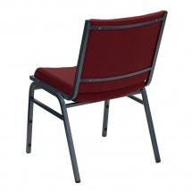 Flash Furniture XU-60153-BY-GG HERCULES Series Heavy Duty 3 Thick Padded Burgundy Patterned Upholstered Stack Chair addl-2