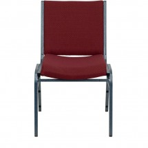Flash Furniture XU-60153-BY-GG HERCULES Series Heavy Duty 3 Thick Padded Burgundy Patterned Upholstered Stack Chair addl-3