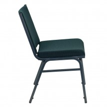 Flash Furniture XU-60153-GN-GG HERCULES Series Heavy Duty 3 Thick Padded Green Patterned Upholstered Stack Chair addl-1