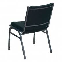 Flash Furniture XU-60153-GN-GG HERCULES Series Heavy Duty 3 Thick Padded Green Patterned Upholstered Stack Chair addl-2