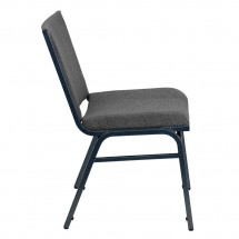 Flash Furniture XU-60153-GY-GG HERCULES Series Heavy Duty 3 Thick Padded Gray Upholstered Stack Chair addl-2