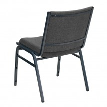 Flash Furniture XU-60153-GY-GG HERCULES Series Heavy Duty 3 Thick Padded Gray Upholstered Stack Chair addl-1