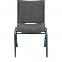 Flash Furniture XU-60153-GY-GG HERCULES Series Heavy Duty 3 Thick Padded Gray Upholstered Stack Chair addl-3
