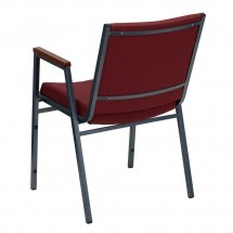 Flash Furniture XU-60154-BY-GG HERCULES Series Heavy Duty 3 Thick Padded Burgundy Patterned Upholstered Stack Chair with Arms addl-2