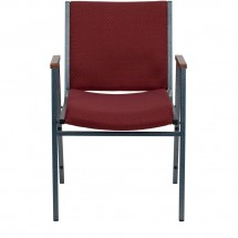 Flash Furniture XU-60154-BY-GG HERCULES Series Heavy Duty 3 Thick Padded Burgundy Patterned Upholstered Stack Chair with Arms addl-3