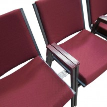 Flash Furniture XU-60154-BY-GG HERCULES Series Heavy Duty 3 Thick Padded Burgundy Patterned Upholstered Stack Chair with Arms addl-4