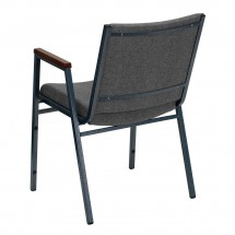 Flash Furniture XU-60154-GY-GG HERCULES Series Heavy Duty 3 Thick Padded Gray Upholstered Stack Chair with Arms addl-2