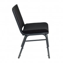 Flash Furniture XU-60555-BK-GG HERCULES Series 1000 lb. Capacity Big and Tall Extra Wide Black Fabric Stack Chair addl-2