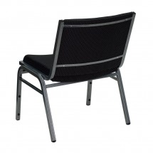 Flash Furniture XU-60555-BK-GG HERCULES Series 1000 lb. Capacity Big and Tall Extra Wide Black Fabric Stack Chair addl-1