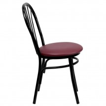 Flash Furniture XU-698B-BGV-GG HERCULES Series Fan Back Metal Chair - Burgundy Vinyl Seat addl-4