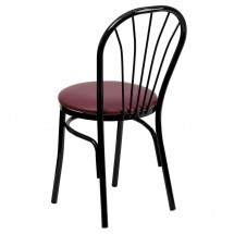 Flash Furniture XU-698B-BGV-GG HERCULES Series Fan Back Metal Chair - Burgundy Vinyl Seat addl-1