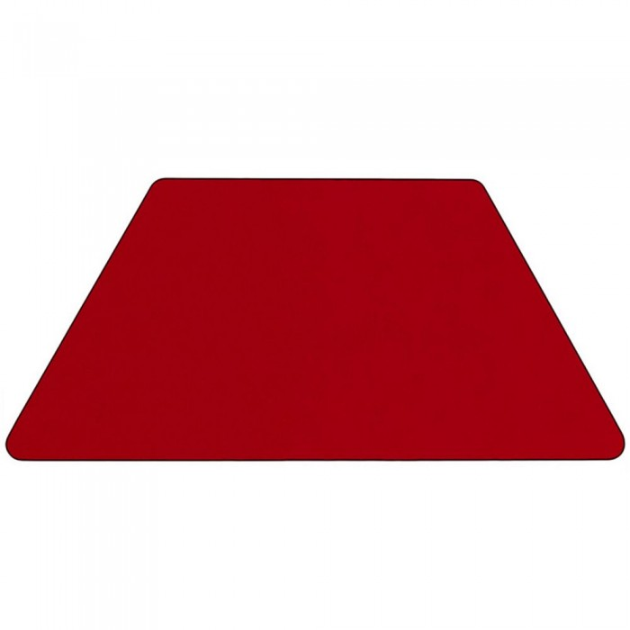Flash Furniture Xu A3060 Trap Red T P Gg Trapezoid Activity Table With Red Thermal Fused Laminate Top And Height Adjustable Pre School Legs 30 X 60