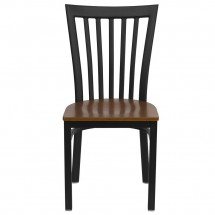Flash Furniture XU-DG6Q4BSCH-CHYW-GG HERCULES Series Black School House Back Metal Restaurant Chair - Cherry Wood Seat addl-2