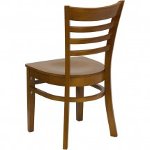 Flash Furniture XU-DGW0005LAD-CHY-GG HERCULES Series Cherry Finished Ladder Back Wooden Restaurant Chair addl-2