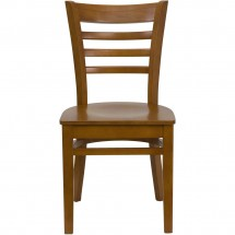 Flash Furniture XU-DGW0005LAD-CHY-GG HERCULES Series Cherry Finished Ladder Back Wooden Restaurant Chair addl-3