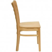 Flash Furniture XU-DGW0005LAD-NAT-GG HERCULES Series Natural Wood Finished Ladder Back Wooden Restaurant Chair addl-2