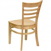 Flash Furniture XU-DGW0005LAD-NAT-GG HERCULES Series Natural Wood Finished Ladder Back Wooden Restaurant Chair addl-1
