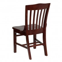Flash Furniture XU-DG-W0006-MAH-GG HERCULES Series Mahogany Finished School House Back Wooden Restaurant Chair addl-1