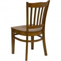 Flash Furniture XU-DGW0008VRT-CHY-GG HERCULES Series Cherry Finished Vertical Slat Back Wooden Restaurant Chair addl-2