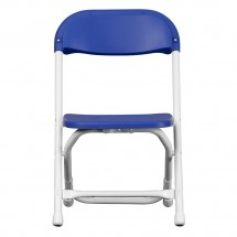 Flash Furniture Y-KID-BL-GG Kids Blue Plastic Folding Chair addl-2