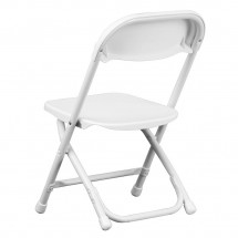 Flash Furniture Y-KID-WH-GG Kids White Plastic Folding Chair addl-1