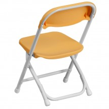 Flash Furniture Y-KID-YL-GG Kids Yellow Plastic Folding Chair addl-1