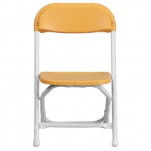 Flash Furniture Y-KID-YL-GG Kids Yellow Plastic Folding Chair addl-2