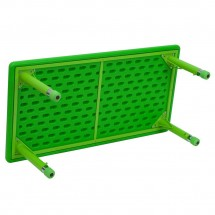 Flash Furniture YU-YCX-001-2-RECT-TBL-GREEN-GG Height Adjustable Rectangular Green Plastic Kids Activity Table 24 x 48 addl-1