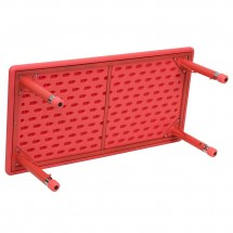Flash Furniture YU-YCX-001-2-RECT-TBL-RED-GG Height Adjustable Rectangular Red Plastic Kids Activity Table 24 x 48 addl-1