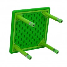 Flash Furniture YU-YCX-002-2-SQR-TBL-GREEN-GG Square Height Adjustable Green Plastic Activity Table 24 addl-1