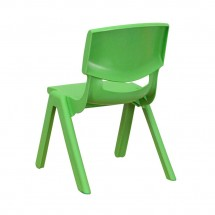 Flash Furniture YU-YCX-003-GREEN-GG Green Plastic Stackable School Chair with 10-1/2 Seat Height addl-1