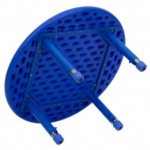 Flash Furniture YU-YCX-007-2-ROUND-TBL-BLUE-GG Round Height Adjustable Blue Plastic Activity Table 33 addl-1