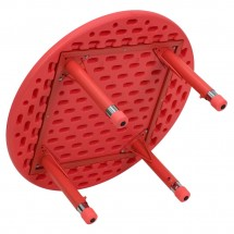Flash Furniture YU-YCX-007-2-ROUND-TBL-RED-GG Round Height Adjustable Red Plastic Activity Table 33 addl-1
