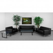 Flash Furniture ZB-DEFINITY-8009-SET-BK-GG HERCULES Definity Series Reception Set addl-3