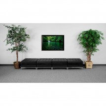 Flash Furniture ZB-IMAG-OTTO-4-GG HERCULES Imagination Series Black Leather Four Seat Bench addl-1