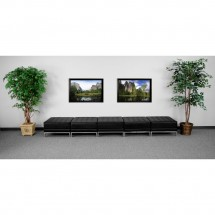 Flash Furniture ZB-IMAG-OTTO-5-GG HERCULES Imagination Series Black Leather Five Seat Bench addl-1
