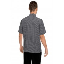 Chef Works CSCK Poly/Cotton Black and White Check Cook Shirt addl-2