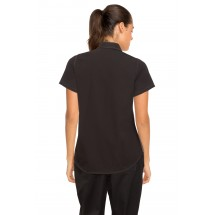 Chef Works CSWC-BLM Womens Universal Contrast Shirt Black,Gray addl-1