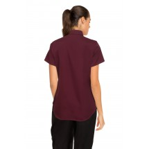 Chef Works CSWV-MER Universal Cool Vent Womens Merlot Shirt addl-3