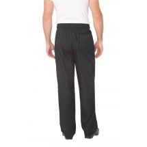 Chef Works NBBZ Black Baggy Chef Pants with Zipper addl-1