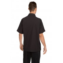 Chef Works C100-BLK Poly/Cotton Cafe Shirt, Black addl-1