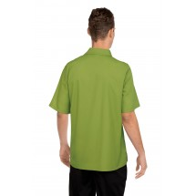 Chef Works C100-LIM Poly/Cotton Cafe Shirt, Lime addl-1