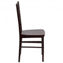 Flash Furniture LE-MAHOGANY-GG Flash Elegance Mahogany Resin Stacking Chiavari Chair addl-4